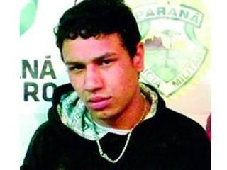 Dionatan Mendes de Quadros, preso que foi resgatado durante atendimento médico em Campo Largo - PR, onde foi assassinado o Investigador de Polícia Marcos Gogola. Foto: Policia Civil Do Paraná