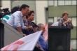 Lideranças da coligação em Curitiba marcaram presença. (Fotos: Felipe Harmata/BandNews FM Curitiba)